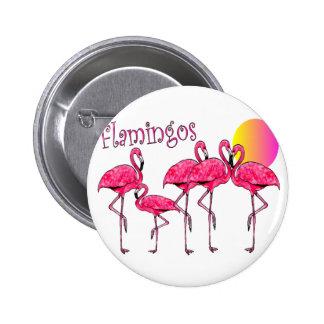 Tropical Flamingo Art Gifts Pinback Button