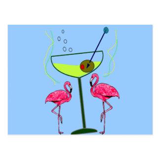 Tropical Flamingo Art Gifts Postcard