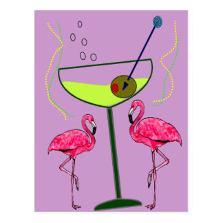 Tropical Flamingo Art Gifts Postcard