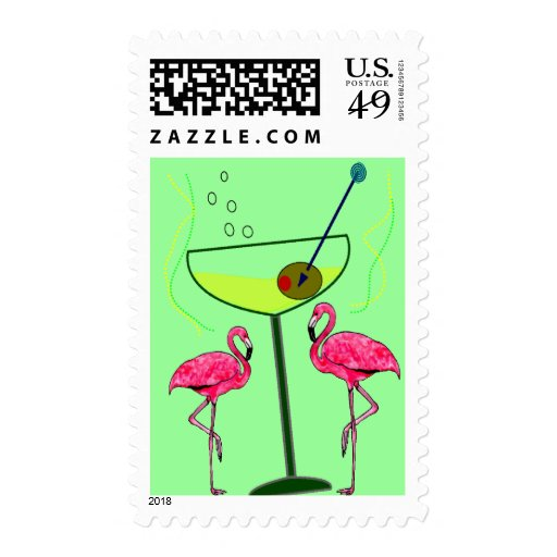 Tropical Flamingo Art Gifts Stamp