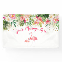 Tropical Flamingo Baby Shower Banner