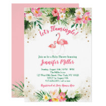 Tropical Flamingo Baby Shower Invitation