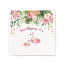 Tropical Flamingo Baby Shower Napkin