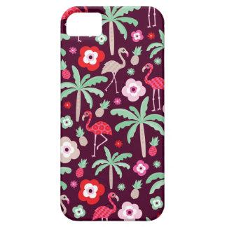Tropical Flamingo bird paradise palm tree iPhone SE/5/5s Case