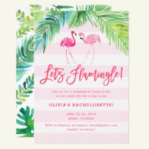 Tropical Flamingo Birthday or Bachelorette Invite