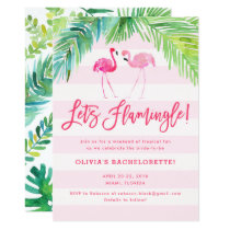 Tropical Flamingo Birthday or Bachelorette Invite