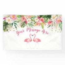Tropical Flamingo Bridal Shower Banner