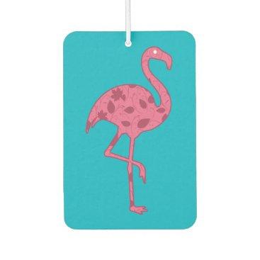 Beach Themed Tropical Flamingo Car Air Freshener
