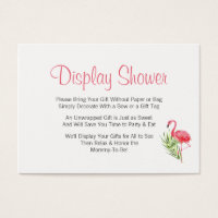 Bow business cards templates zazzle standard sized business cards tropical flamingo display baby shower insert colourmoves