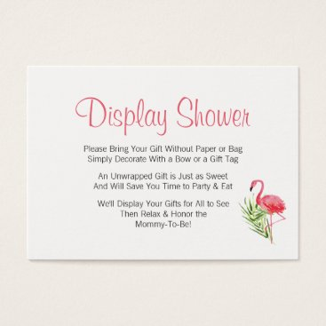 Toddler & Baby themed Tropical Flamingo Display Baby Shower Insert