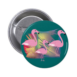 Tropical Flamingo Gifts 2 Inch Round Button