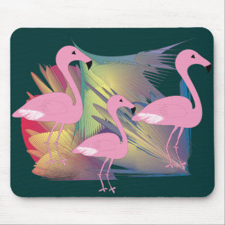 Tropical Flamingo Gifts Mouse Pad
