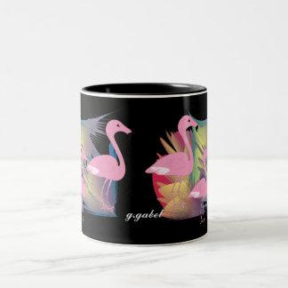 Tropical Flamingo Gifts Two-Tone Coffee Mug
