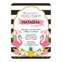 Tropical Flamingo Party Invitation (5x7)