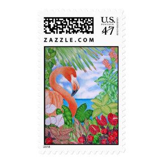 Tropical Flamingo Stamp