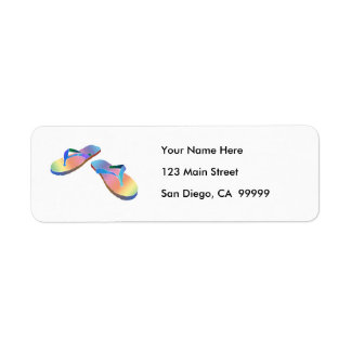 Tropical Flip Flops 2 Custom Return Address Labels