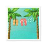 Tropical Flip Flops Napkin