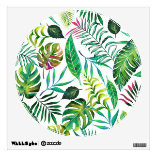 Tropical Flora Wall Decal