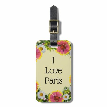 Tropical Floral Beach Vacation Baggage Quotes Bag Tag