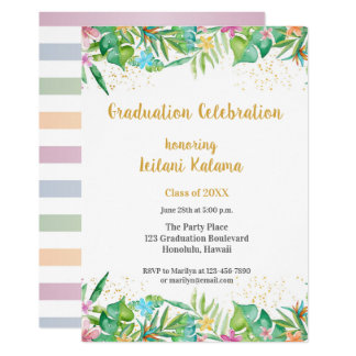 Tropical Floral Borders Card