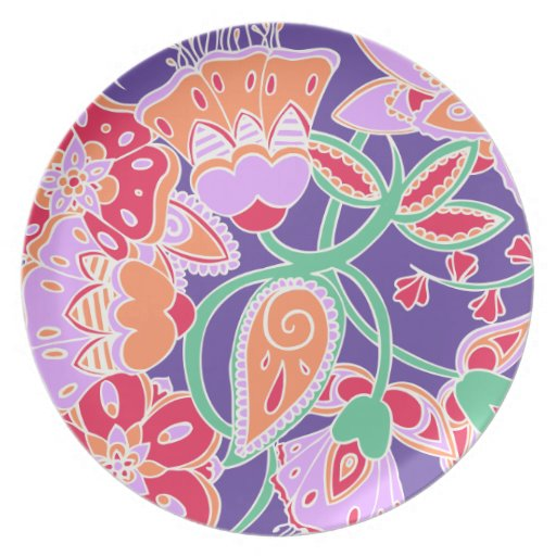Tropical Floral Dinner Plate
