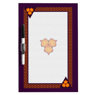 Tropical Floral Dry Erase Board