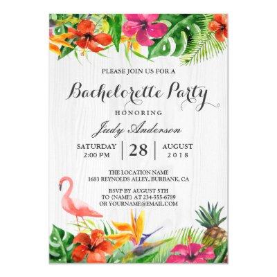 flamingo party invitation tropical birthday luau | zazzle, Party invitations