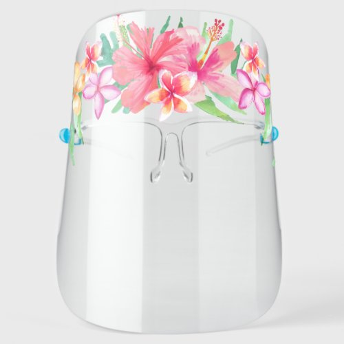 Tropical Floral Halo Crown Face Shield