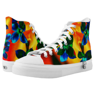 Tropical Floral Hightop ZIPZ High-Top Sneakers