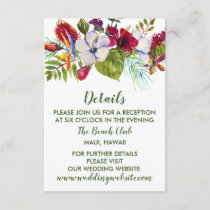 Tropical Floral Island Hibiscus Green Details Enclosure Card