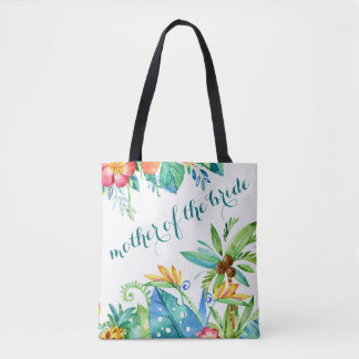 Tropical Floral Mother of the Bride Tote Bag