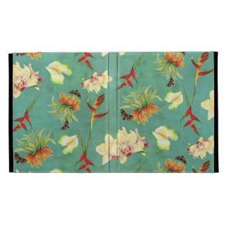 Tropical Floral Orchid Botanical Butterfly Beach iPad Folio Cover