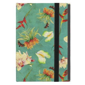 Tropical Floral Orchid Botanical Butterfly Beach Cases For iPad Mini