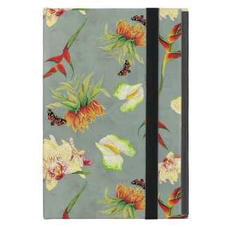 Tropical Floral Orchid Botanical Butterfly Beach Covers For iPad Mini