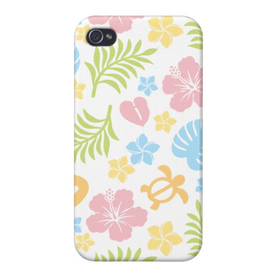 Tropical Floral Pattern 2 Cover For iPhone 4