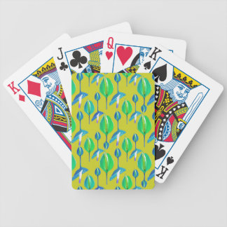 Tropical Floral Pattern Bicycle Playing Cards