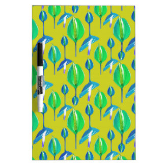 Tropical Floral Pattern Dry-Erase Board