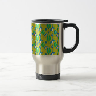 Tropical Floral Pattern Travel Mug