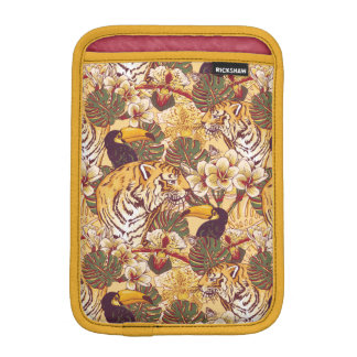 Tropical Floral Pattern With Tiger Sleeve For iPad Mini