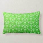 Tropical Floral Pillow - Lime