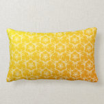 Tropical Floral Pillow - Yellow