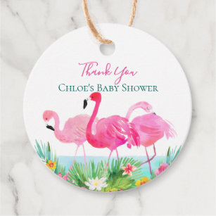 Custom Birthday Favor Tags Thanks for Flamingling with Me RR-536 Flamingo Birthday Favor Tags Custom Hang Tags