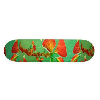 Tropical Floral Print Skateboard Deck