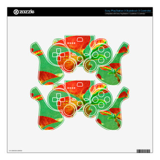 Tropical Floral Print Skin For PS3 Controller