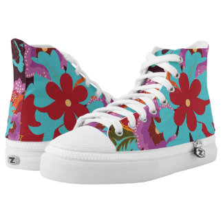 Tropical Floral Printed Shoes