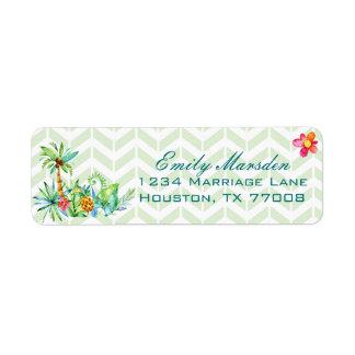 Tropical Floral Return Address Label