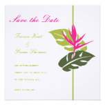Tropical Floral Save the Date Announcement