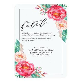 Tropical Floral Summer Wedding Invitations