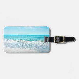 Tropical Florida Beach Sand Ocean Waves Sandpiper Bag Tag