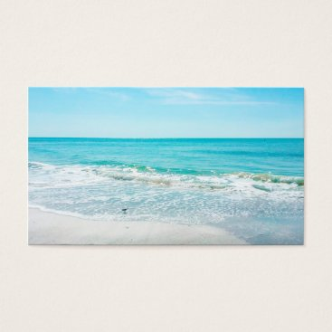 Beach Themed Tropical Florida Beach Sand Ocean Waves Sandpiper Business Card